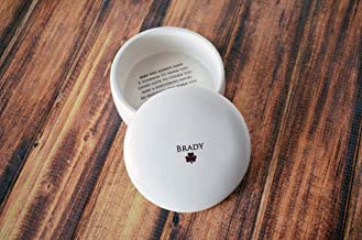 Personalized Baptism Gift, First Communion Gift or Confirmation Gift - With Irish Blessing - Round Keepsake Box - Comes with a Gift Box