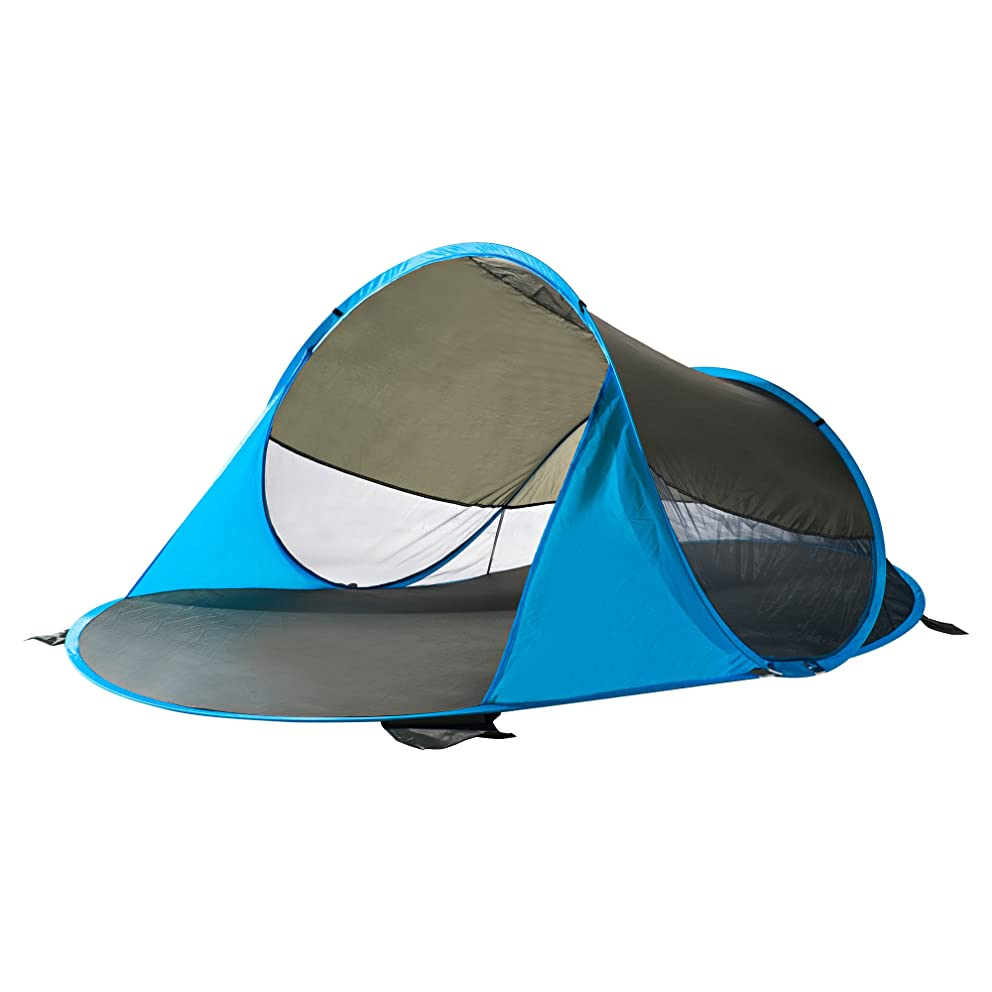 CCTRO Pop Up Beach Tent Sun Shelter, Portable Sun Shade Automatic Instant Family 2 Person Canopy Cabana Tent Beach Shelter for Beach Camping Fishing Hiking Picnicking