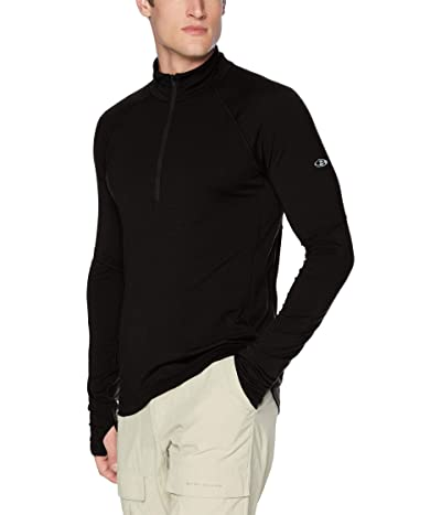 Icebreaker 150 Zone Merino Long Sleeve 1/2 Zip (Black/Mineral) Men