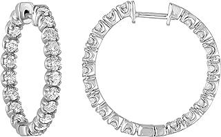 Vir Jewels 2 or 3 cttw Certified 14K Gold Diamond Inside Out Hoop Earrings I1-I2
