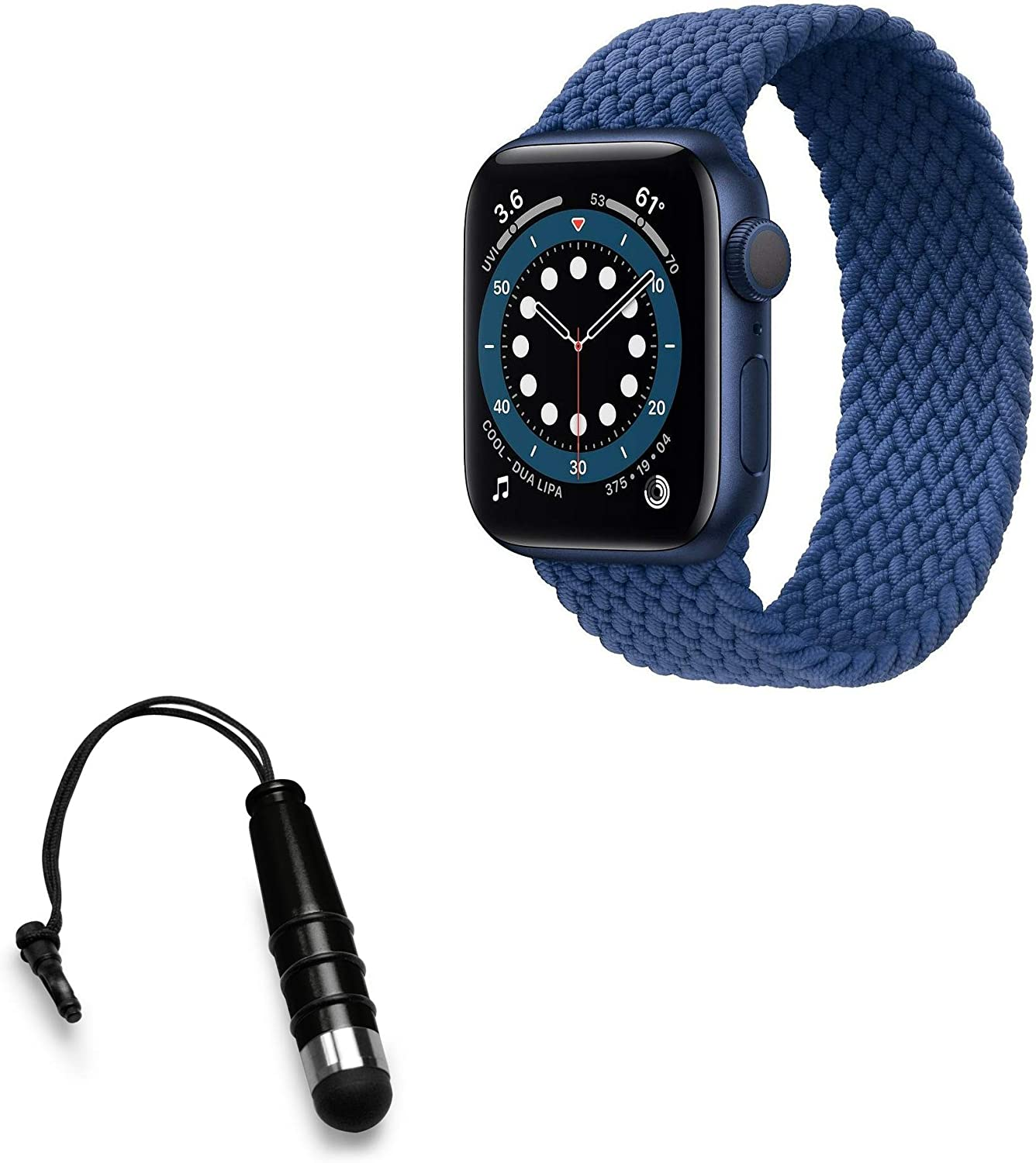 Stylus Pen for Apple Watch Series 6 (40mm) (Stylus Pen by BoxWave) - Mini Capacitive Stylus, Small Rubber Tip Capacitive Stylus Pen for Apple Watch Series 6 (40mm) - Jet Black