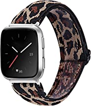 MEFEO Elastic Bands Compatible with Fitbit Versa 2/ Fitbit Versa/Versa Lite, for Women Girls Soft Stretch Strap Wristband ...