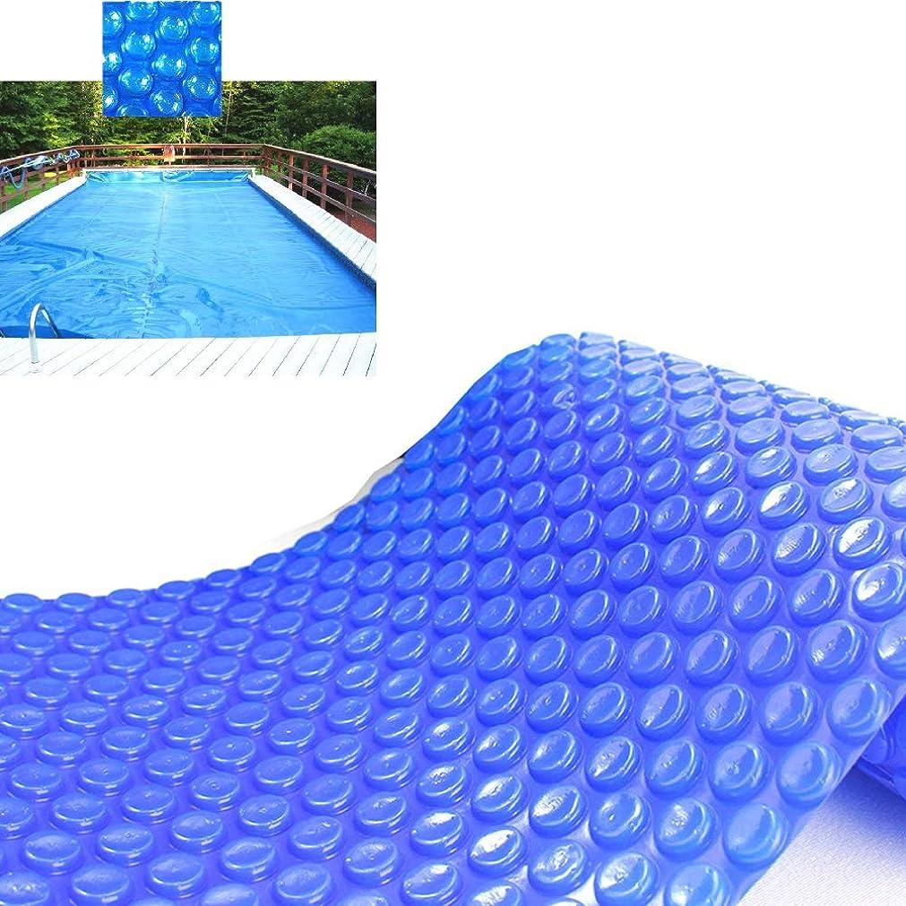 地域の誇張するアンペア防水シート LJIANW 長方形プールカバースイミングプールカバー、95%の水の蒸発を低減アンチダスト断熱温暖化水 、トリミング可能 (Color : Blue/360g, Size : 3x6m)