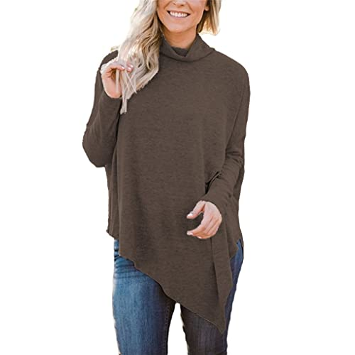 39f61a53d4d6 Hount Womens Casual Dolman Tunic Tops for Leggings Long Sleeve T-Shirt Plus  Size Fall