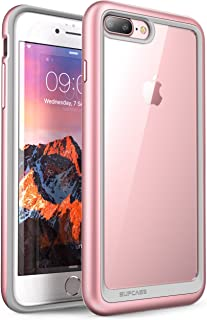 SUPCASE Unicorn Beetle Style Design for iPhone 8 Plus Case, Premium Hybrid Protective Clear Bumper Case [Scratch Resistant] for Apple iPhone 7 Plus 2016 / iPhone 8 Plus 2017 Release - Rose Gold