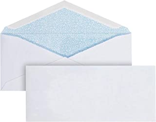 """Mead #10 Business Envelope, Gummed Seal, Security Tinted, 4-1/8"""" x 9-1/2"""", White, 500/Box (CO128)"""