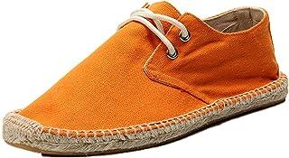 Espadrilles pour Hommes Chaussures décontractées Simples à Lacets Basses Portables Respirantes et Plates Chaussures en Toi...