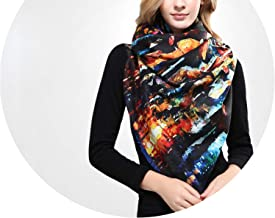 Women Scarf Wool Shawl Thicken Warm Wrap Printing Scarves And Stoles Soft Textured Winter Scarf