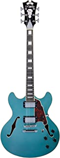 D'Angelico Premier DC Semi-Hollow Electric Guitar w/ Stop-Bar Tailpiece - Ocean Turquoise