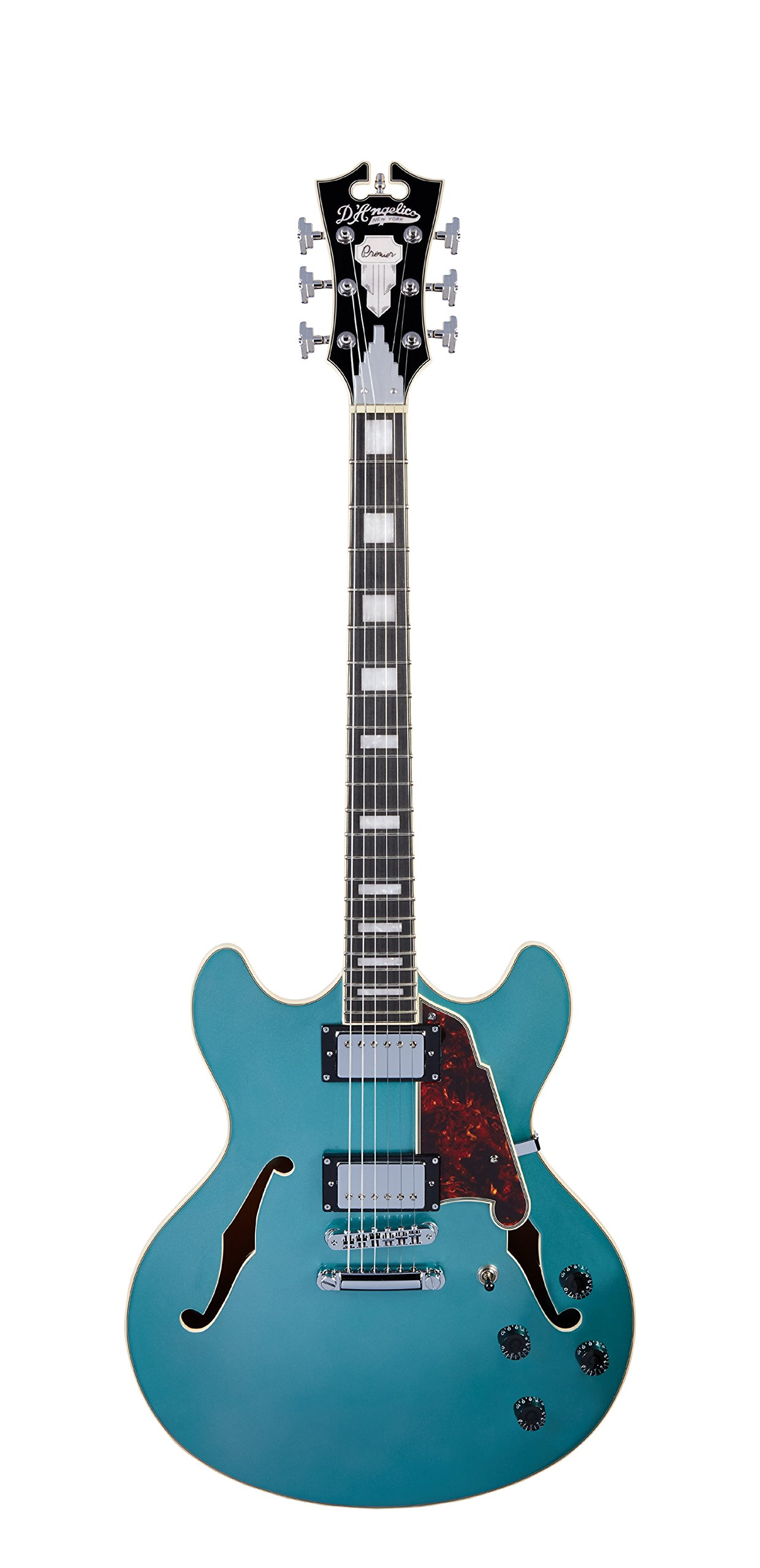 Cheap D Angelico Premier DC Semi-Hollow Electric Guitar w/ Stop-Bar Tailpiece - Ocean Turquoise Black Friday & Cyber Monday 2019