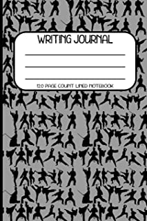 Writing Journal 120 Page Count Lined Notebook: Ninja, martial arts composition book