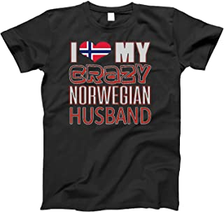 Funny I Love My Crazy Norwegian Husband Heritage Native imigrant T-Shirt