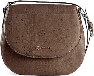 Corkor Saddle Bag for Women Crossbody Purse Sustainable Vegan Leather Cork Gift