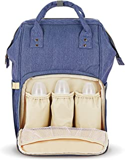 Diaper Bag Mummy Bag Baby Travel Backpack Bag Large Waterproof Bag, Blue