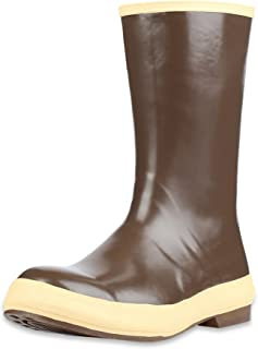 "Servus 12"" Neoprene Soft Toe Men's Work Boots with Chevron Outsole, Copper & Tan (22115)"