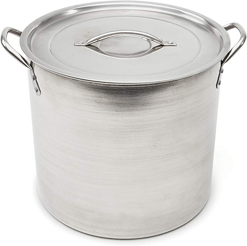 Good Cook 06182 Kitchen Basics Stainless Steel Stock Pot With Stainless Lid 16 Quart Silver