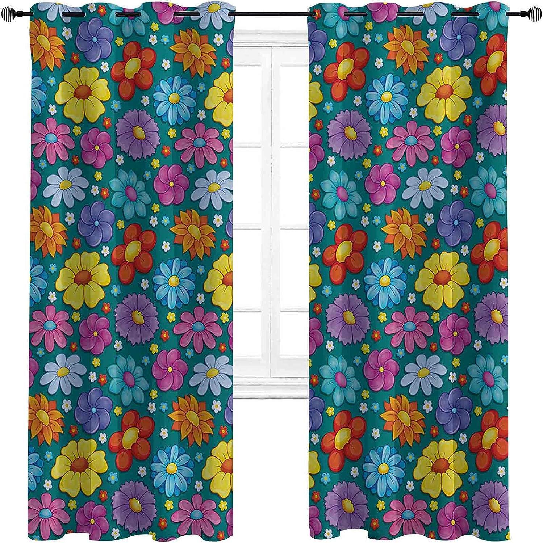 New sales Kids Direct store Room Darkened Insulation Grommet Curtain Spring Flowering