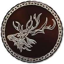 DipLidz Engraved Snuff lid Tribal Elk