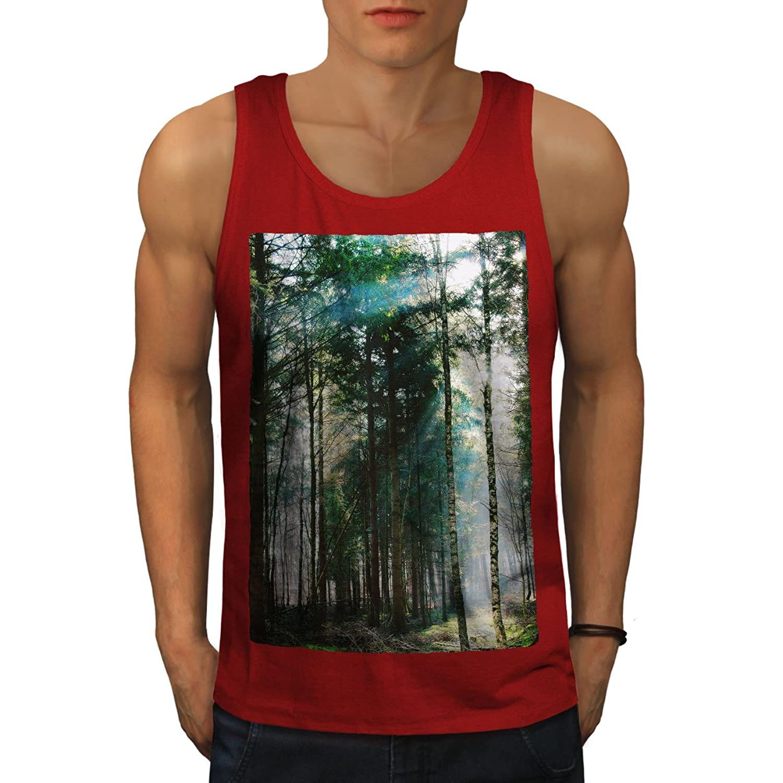 Wellcoda 森林 綺麗な 自然 男性用 S-2XL タンクトップ