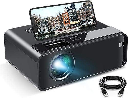 Videoprojecteur WiFi, ELEPHAS Mini Projecteur avec Recopie de l'écran (Affichage sans Fil) Portable 1080p Full HD Mul...