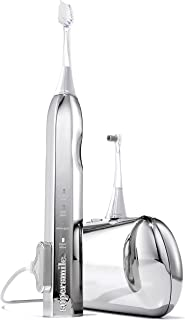 Supersmile Zina45 Deluxe Sonic Pulse Electric Toothbrush w/Patented 45° Soft Bristles, USB Rechargeable Whitening Tooth Brush w/Polishing Head and Travel Case for Adults & Children