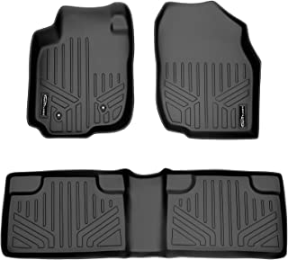 MAXLINER Floor Mats 2 Row Liner Set Black for 2006-2012 Toyota RAV4 Without 3rd Row Seat