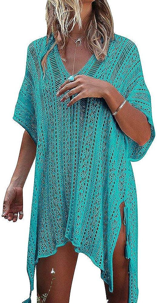 detimi Women's Summer Swimsuit Cover up Bikini Beach Bathing Suit Swimwear