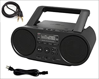 Sony Portable Bluetooth CD Player Boombox Digital Tuner AM/FM Radio Mega Bass Reflex Stereo Sound System with AUX 3.5 to ...