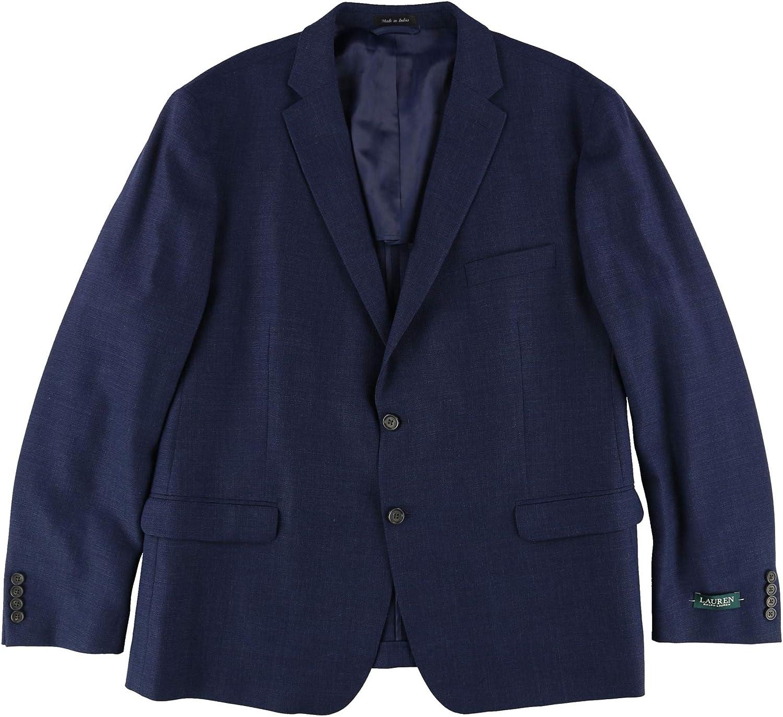 Ralph Lauren Mens Draft Two Button Blazer Jacket, Blue, 50 Regular