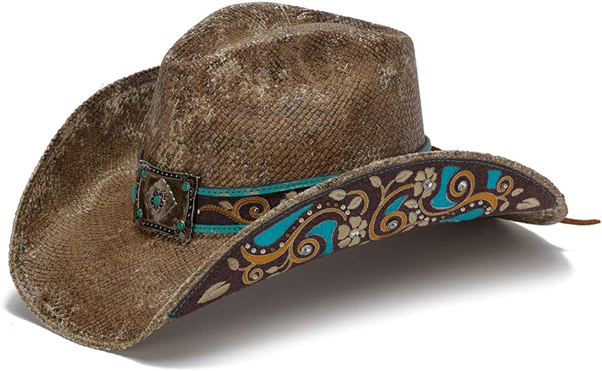 Stampede Hats Women's Cactus Western supreme Flowers Boomer Max 62% OFF Hat