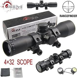 TACFUN AIM Sports Tactical 4X32 Compact .223 .308 Scope/w Rings Rangefinder Reticle