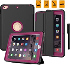 FITVERS New iPad 9.7 Inch 2017/2018 Case Shockproof Rugged Heavy Duty Cover, Three Layer Hard PC+Silicone Hybrid Impact Resistant Full Body Protective with Screen Protector Free Stylus- Rose