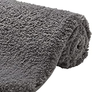 Gorilla Grip Original Premium Luxury Bath Rug, 24x17 Inch, Extra Soft, Absorbent Faux Chinchilla Bathroom Plush Mat Rugs, ...