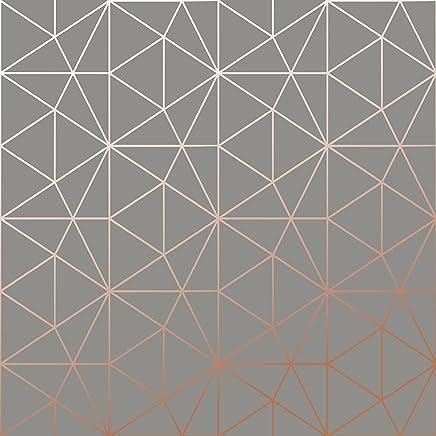 Papier Peint Metro Prisme Géométrique Triangle   Charbon Et Cuivre   WOW007  World Of Wallpaper