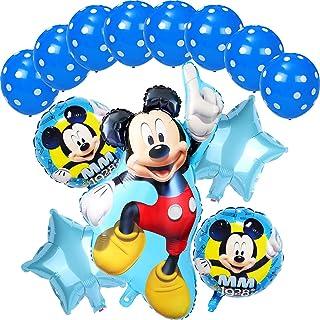 Decoraciones de cumpleaños de Mickey Mouse ZSWQ-Mickey Party Globos Bolas de Nido de Abeja de Mickey Globo de Blue, Banner...