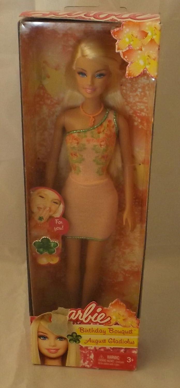 presentando toda la última moda de la calle Barbie Birthday Bouquet August August August Gladiolus with Simulated Birthstone Ring by Mattel (English Manual)  te hará satisfecho