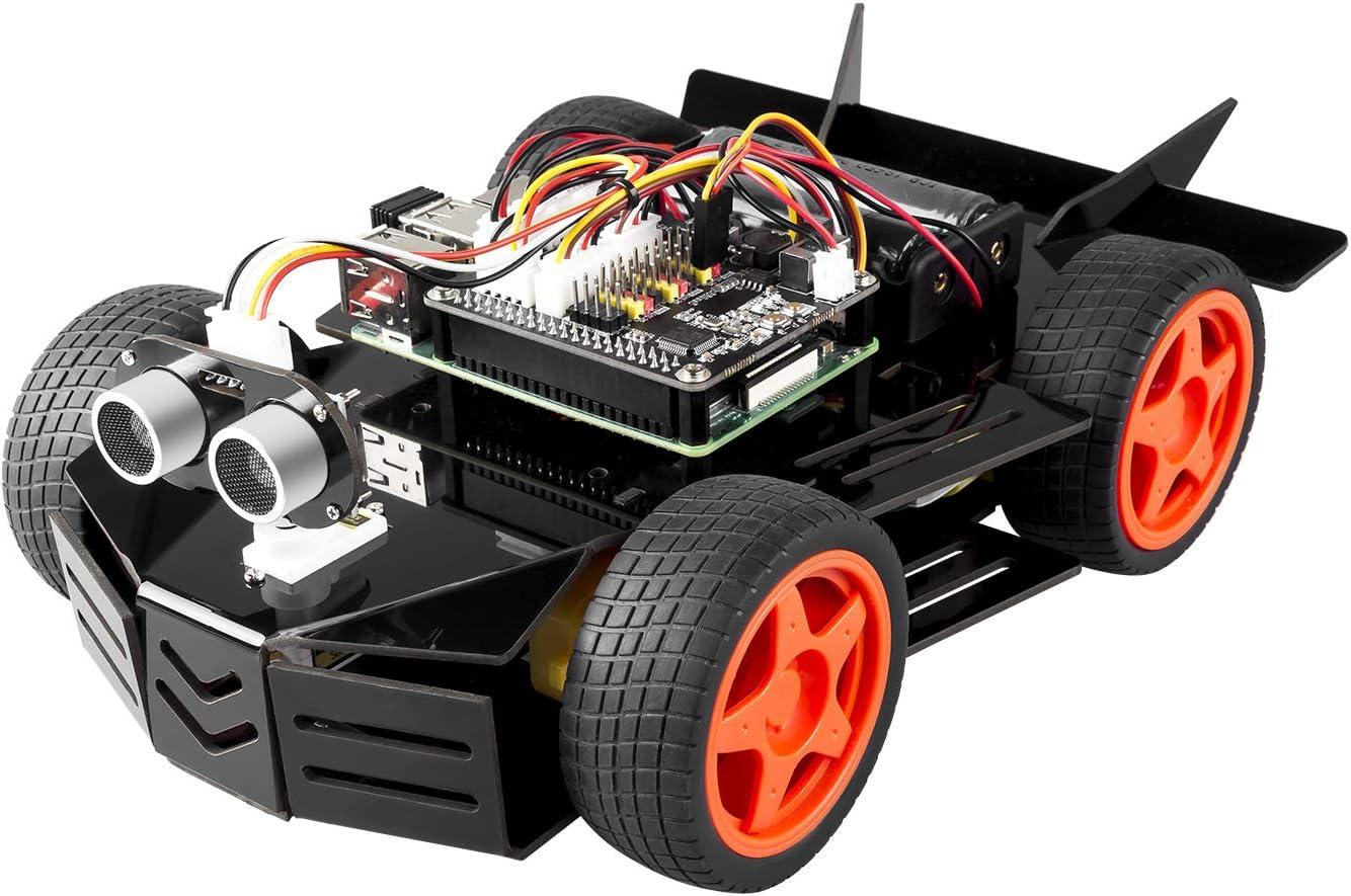 SunFounder Raspberry Pi 2021 new Car Robot Module Kit Detroit Mall 4WD Ultrasoni HAT