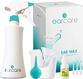 EarCare - High Performance Ear Wax Removal Tool Kit + Ear Drops for Kids & Adults - Get Instant Relief from Clogged Ears & Ache. Simply Squeeze & Hear The Difference Today!