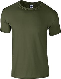 Gildan - Suave básica camiseta de manga corta para hombre - 100% algodón gordo