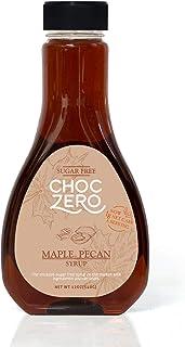 ChocZero's Maple Pecan Sugar-Free Syrup - Low Carb (1 Gram Net Carb), No Sugar, No Preservatives, No Sugar Alcohols. Rich ...