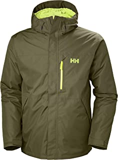 Helly Hansen Men's Squamish CIS 3-in-1 Waterproof Jacket with Zip Out Fleece Liner, 491 Ivy Green, XX-Large