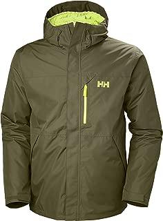 Helly Hansen Men's Squamish CIS 3-in-1 Waterproof Jacket with Zip Out Fleece Liner, 491 Ivy Green, Medium