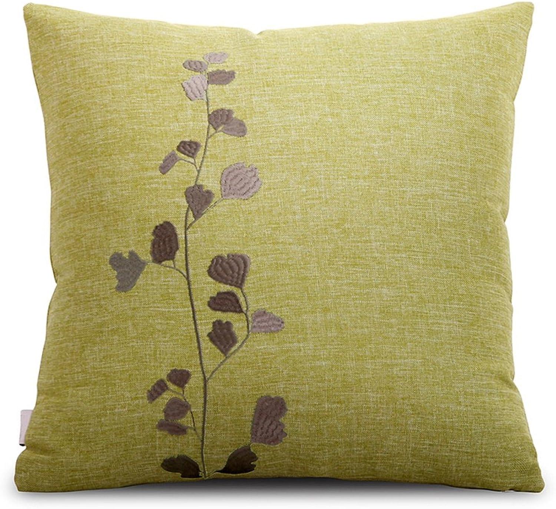RFJJAL Square Pillow,Sofa Pillow,Bedroom Pillow,Home Decoration, Multi-Size, Multi-color (color   C, Size   45CM45CM)