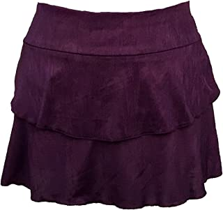 Peachy Tan Aubrey Two-Flounce Skirt in Amethyst
