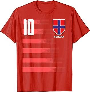 Norway Soccer Jersey Shirt Tee Norge Norwegian Flag T-Shirt
