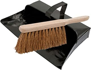 Dapetz ® Strong Trade Metal Dustpan And Soft Wooden Hand Brush Dustpan Set