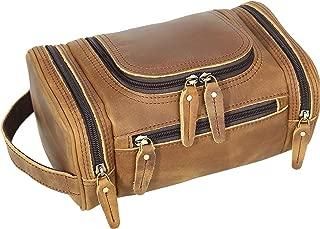 Polare Toiletry Bag Full Grain Leather Shaving Kit Dopp Kit Travel Case Wash Bag