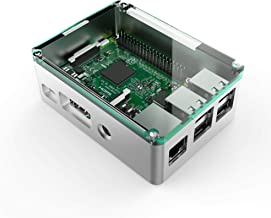 anidees AI-PI-SG-Plus Aluminium Case for Raspberry Pi3 B/B+ with on/Off USB Cable- Silver