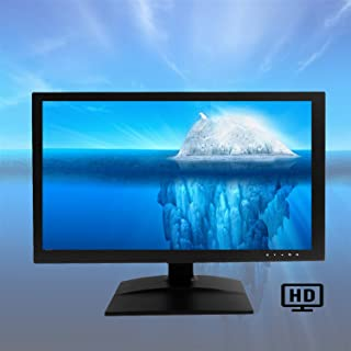 101AV HDMI VGA & BNC Input Build in Speaker Wide Screen Security Monitor 18.5 HD LED 2D Comb Filter Audio Video Display Computer PC Monitor for CCTV DVR Home Office Surveillance Optional Mount