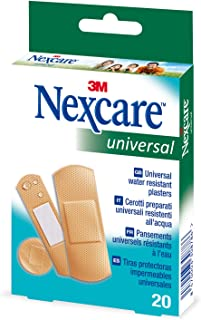 Nexcare Hypoallergenic Waterproof Sticking Plaster, Pack of 20